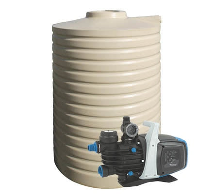 3000L Poly Water Tank & Pump Package Deal