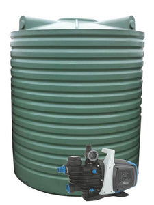 5000L Tall Poly Water Tank Pump Package