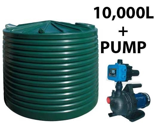 10000L Poly Tank with Pump