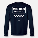WEBIG MOTO CO SWEATSHIRT NAVY