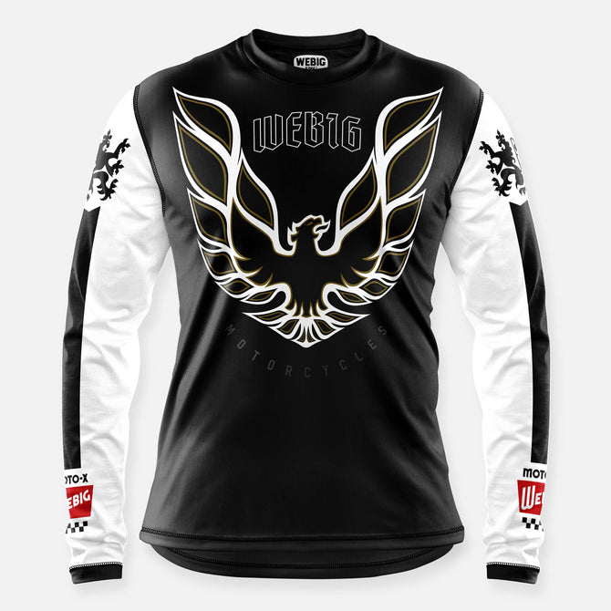 SCREAMIN CHICKIN JERSEY BLACK-WHITE