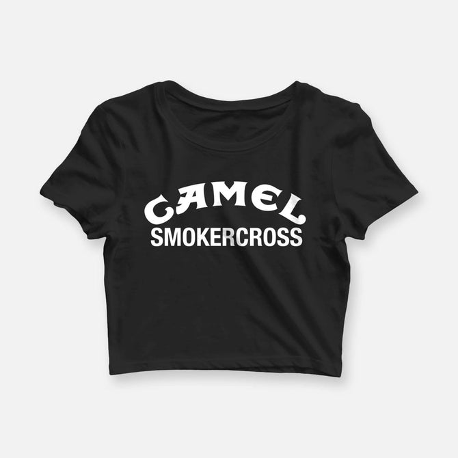 WOMENS CAMEL SMOKERCROSS CROP TEE