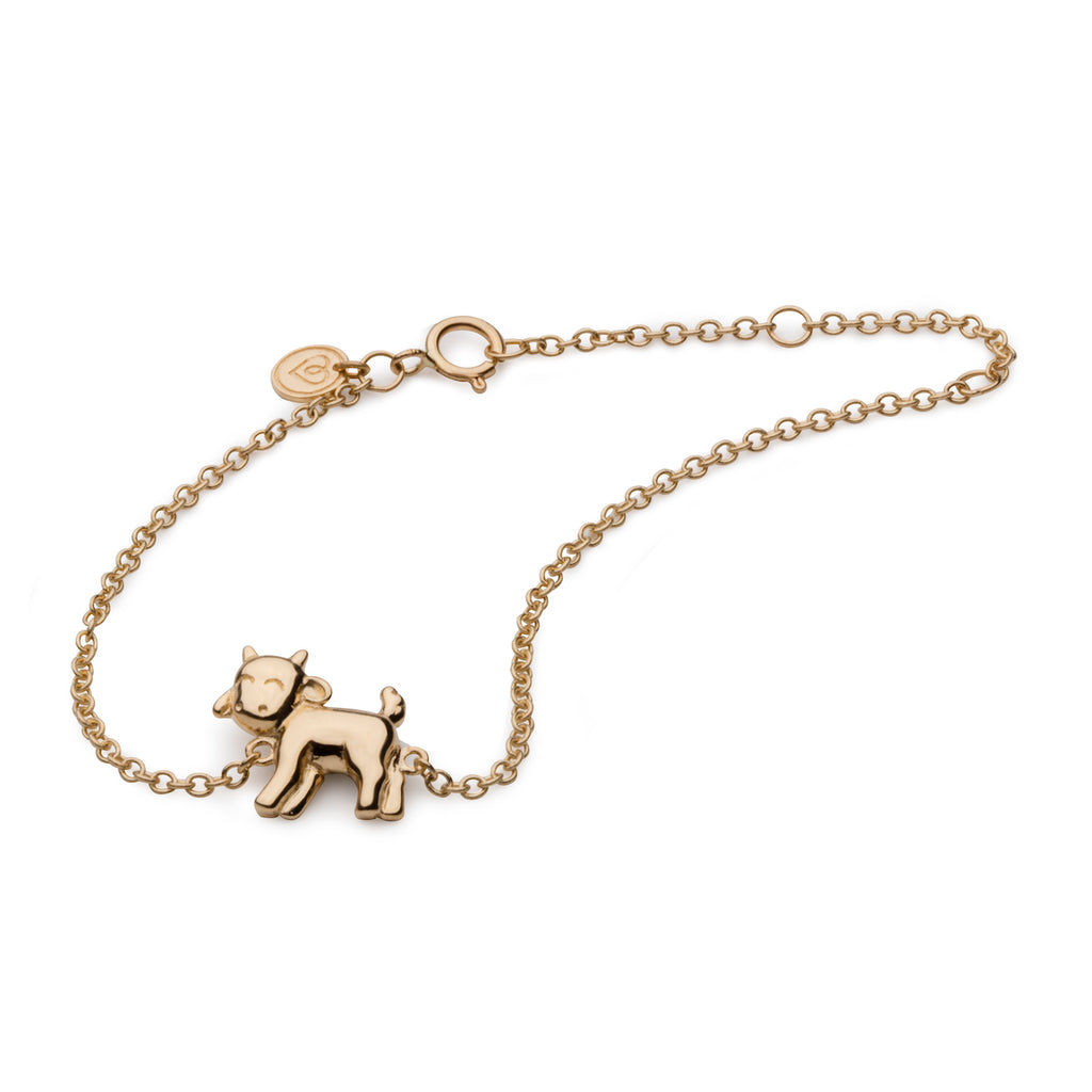 Goat Bracelet in 18K Gold