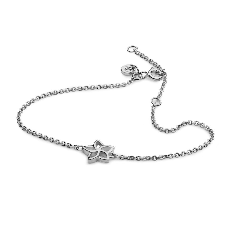 Jasmine Flower Bracelet in 925 Sterling Silver