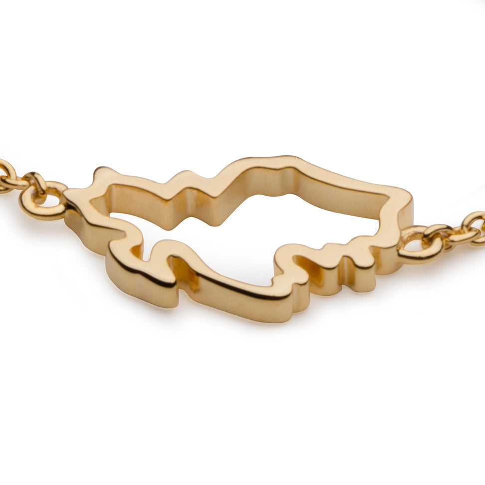 Singapore Map Bracelet in 18K Gold Vermeil