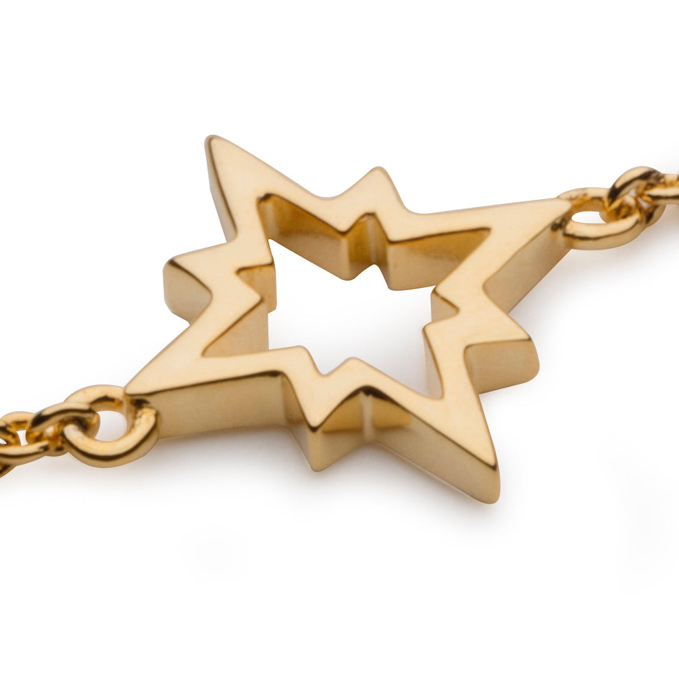 North Star Bracelet in 18K Gold Vermeil