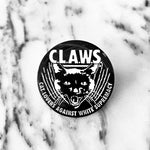 "CAT MAGIC PUNKS CLAWS 1.25"" Circle Enamel Pin"