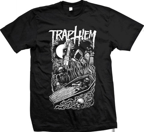 TRAP THEM Graveyard Chainsaw Shirt - SALE
