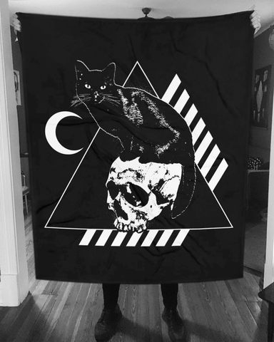 CAT MAGIC PUNKS Bastet Black Blanket
