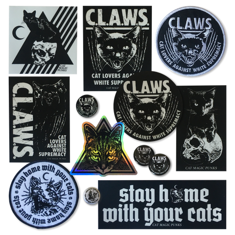 CAT MAGIC PUNKS Sticker/Patch/Pin Mega Pack