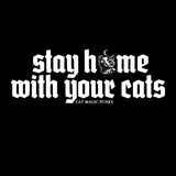 CAT MAGIC PUNKS Stay Home Eternal Black Shirt