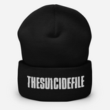 SUICIDE FILE Embroidered Beanie