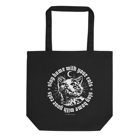 CAT MAGIC PUNKS Stay Home Tote Bag