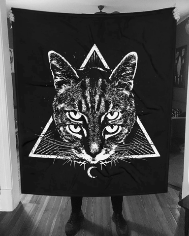 CAT MAGIC PUNKS Four Eyes Blanket