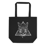 CAT MAGIC PUNKS Four Eyes Tote Bag