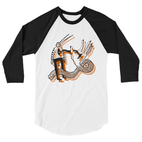 HAYDEN MENZIES Gentle Serpent 3/4 Sleeve Raglan Shirt