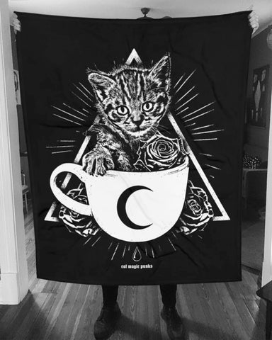 CAT MAGIC PUNKS Kitty Cup Blanket