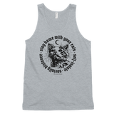 CAT MAGIC PUNKS Stay Home Unisex Tank White/Grey