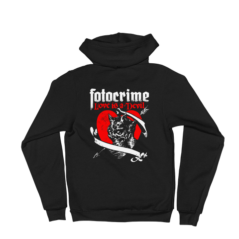 FOTOCRIME Love Is A Devil Zip-Up Hoodie
