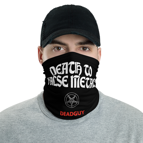 DEADGUY Death To False Metal Neck Gaiter / Face Mask