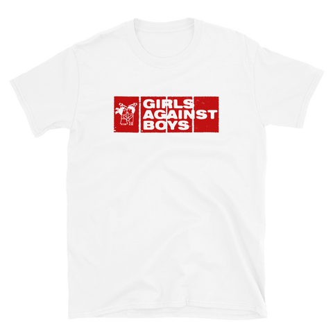 GIRLS AGAINST BOYS Twins Shirt - Black/White/Grey