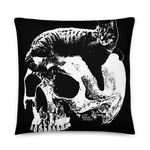 CAT MAGIC PUNKS Willie Skull Throw Pillow