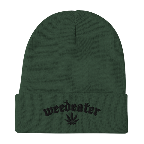 WEEDEATER Leaf Green Embroidered Beanie