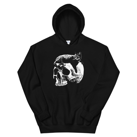 CAT MAGIC PUNKS Willie Skull Hooded Sweatshirt