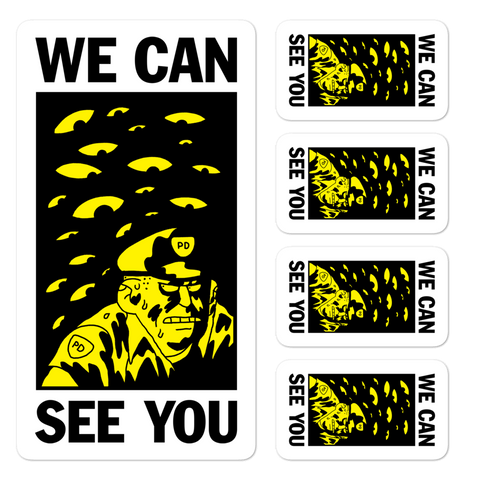 BEN SEARS We Can See You Sticker Sheet