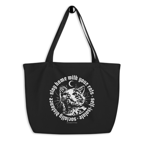 CAT MAGIC PUNKS Stay Home Large Tote