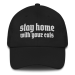 CAT MAGIC PUNKS Stay Home Embroidered Hat