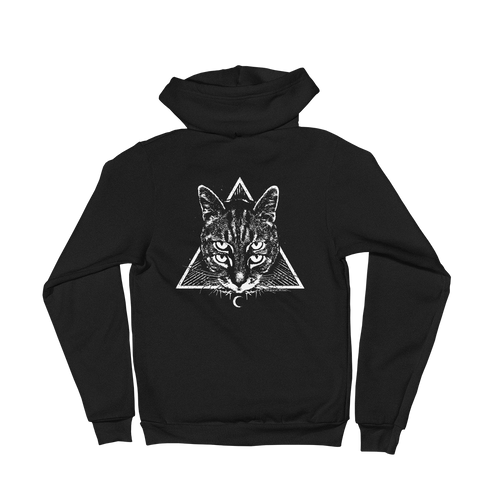 CAT MAGIC PUNKS Four Eyes Zip-Up Hoodie
