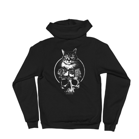 CAT MAGIC PUNKS Feline Forever Zip-Up Hoodie