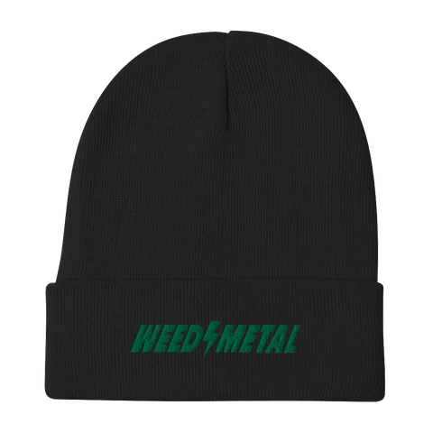WEEDEATER Weed Metal Embroidered Beanie