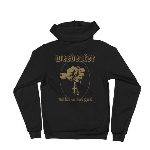 WEEDEATER God Luck Zip-Up Hoodie