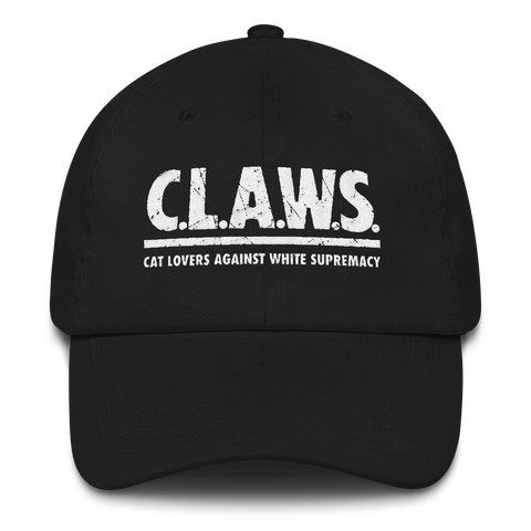 CAT MAGIC PUNKS CLAWS Text Logo Dad Hat