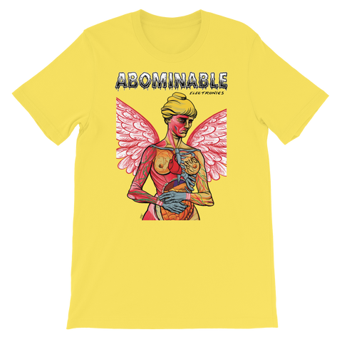ABOMINABLE ELECTRONICS Radio Friendly Yellow Shirt