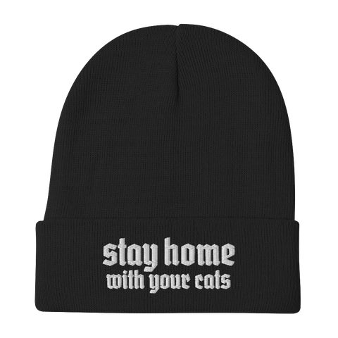 CAT MAGIC PUNKS Stay Home Beanie