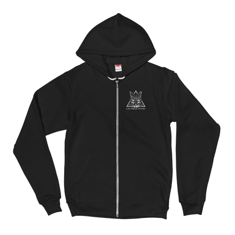 CAT MAGIC PUNKS Cat In The Brain Zip-Up Hoodie