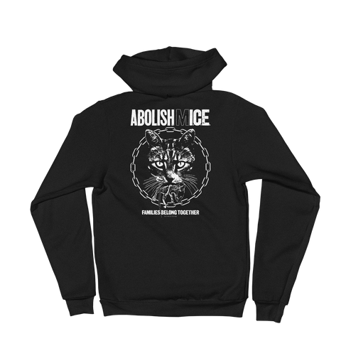 CAT MAGIC PUNKS Abolish (M)ICE Zip-Up Hoodie