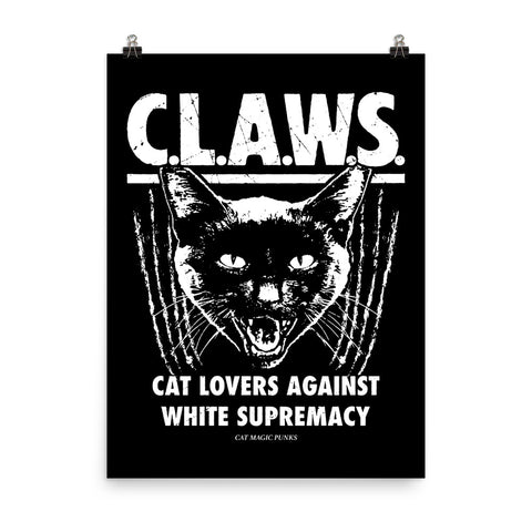 "CAT MAGIC PUNKS CLAWS 18x24"" Poster"