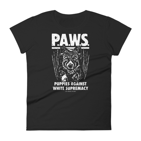 CAT MAGIC PUNKS PAWS Women's Fitted Shirt