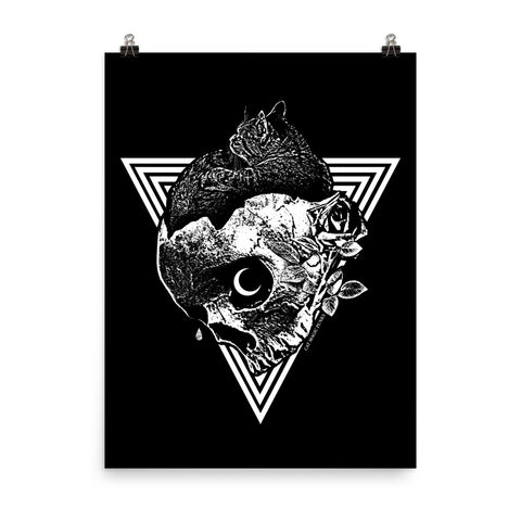 CAT MAGIC PUNKS Comfort Black Poster