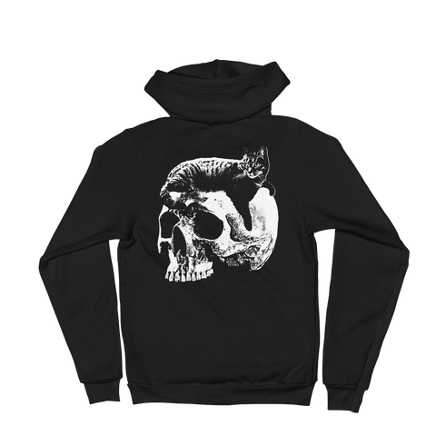 CAT MAGIC PUNKS Willie Skull Zip-Up Hoodie