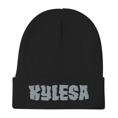 KYLESA Embroidered Beanie Black/Green/Navy