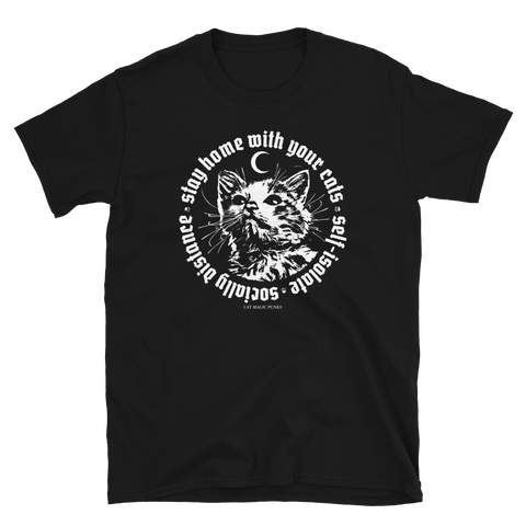 CAT MAGIC PUNKS Stay Home Shirt Black