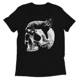 CAT MAGIC PUNKS Willie Skull Tri-Blend Shirt