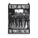 "STEALWORKS Who Protects Who? 18x24"" Art Print"
