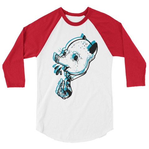 HAYDEN MENZIES Gentle Pig 3/4 Sleeve Raglan Shirt