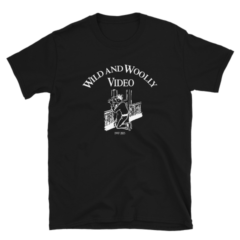 WILD AND WOOLLY VIDEO Original Logo Shirt Black